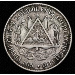 El Salvador 5 Centavos 1914 KM124 Ag EXC-