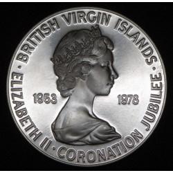 Islas Virgenes Britanicas 25 Cents 1978 KM19 Ag UNC