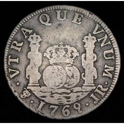 Potosi Columnaria 2 Reales 1769 JR CJ60.3.2 Ag B+