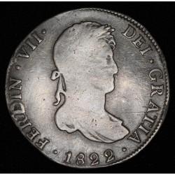 Potosi 4 Reales 1822 PJ CJ57.7 Fernando VII Ag Buena con resto de Soldadura