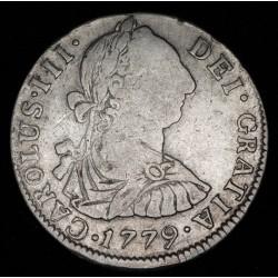 Potosi 2 Reales 1779/9 PJ CJ65.8.2 Carlos III Ag B+