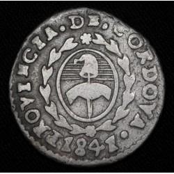 Cordoba 1 Real 1841 JPP A10 R3 CJ35.1.24 Ag Buena con resto de Soldadura