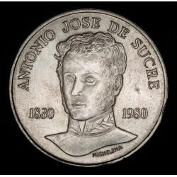 Venezuela 75 Bolivares 1980 KMY55 Sucre Ag EXC+
