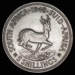 Sudafrica 5 shillings 1948 KM40.1 Ag EXC