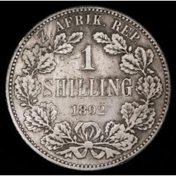 Sudafrica shilling 1892 KM40.1 Ag MB