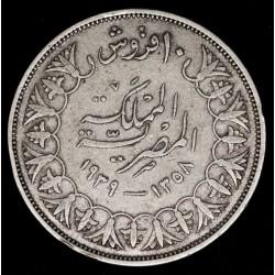 Egipto 10 Piastres 1939 KM367 Ag MB