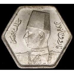 Egipto 2 Piastres 1944 KM369 Ag EXC+