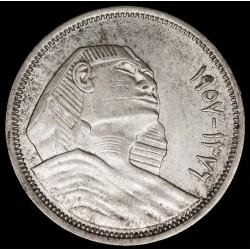 Egipto 5 Piastres 1957 KM382 Ag EXC