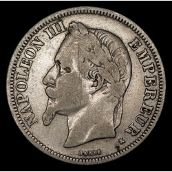 Francia 2 Francos 1866 K KM807.3 Ag B+