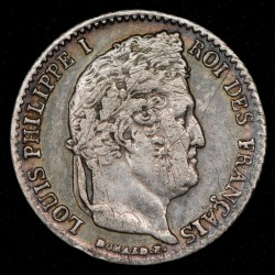 Francia 1/4 Franc 1835A KM740.1 Ag MB