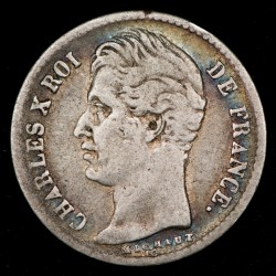 Francia Carlos X 1/4 Franc 1829A KM722.1 Ag MB