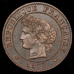 Francia 1 Cent 1872A KM826.1 EXC+