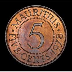 Mauricio 5 Cents 1978 KM34 UNC