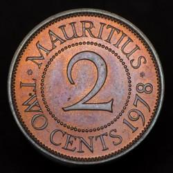 Mauricio 2 Cents 1978 KM32 EXC