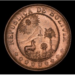Bolivia 50 Centavos 1942 Cobre UNC