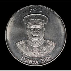 Tonga 10 Seniti 2005 FAO KM69a Acero UNC