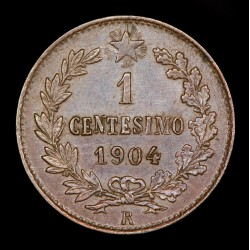 Italia 1 Centesimo 1904 R KM35 Cobre EXC+