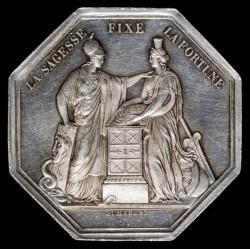 Francia Ficha de Banco 1797 Ag EXC