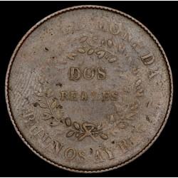 Buenos Aires 2 Reales 1840 A4 - R1 CJ14.1.6 Cobre Buena