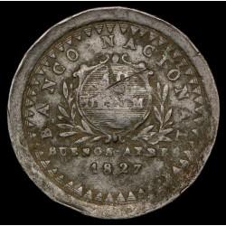 Buenos Aires 10 Decimos 1827 A2 - R2 CJ6.3 Cobre B+
