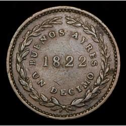 Buenos Aires 1/10 1822 A1 - R1 CJ1.1 Cobre EXC-