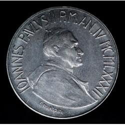 Vaticano 50 Liras 1982 KM163 Juan Pablo II Acero UNC