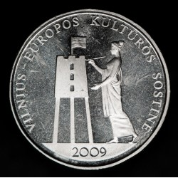 Lituania 1 Litas 2009 KM162 Cultura Europea Cuproniquel UNC