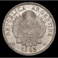 Argentina 10 Centavos 1883 CJ23.7 Ag UNC