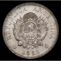 Argentina 20 Centavos 1882 CJ19.1 Ag EXC-
