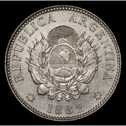 Argentina 20 Centavos 1882 CJ19.3 Ag EXC-