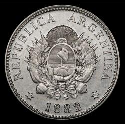 Argentina 20 Centavos 1882 CJ19.4 Ag EXC-