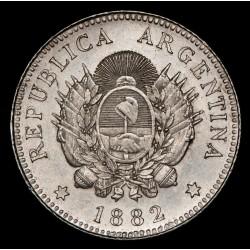 Argentina 20 Centavos 1882 CJ19.5 Ag EXC/EXC+