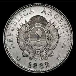 Argentina 20 Centavos 1882 CJ19.8 Ag UNC