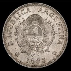 Argentina 20 Centavos 1883 CJ20.4 Ag EXC