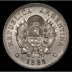 Argentina 20 Centavos 1883 CJ20.6 Ag EXC+