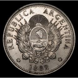 Argentina 50 Centavos 1882 CJ16.1 Ag EXC-