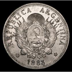 Argentina 50 Centavos 1883 CJ17.2 Ag MB+