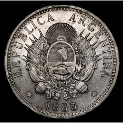 Argentina 50 Centavos 1883 CJ17.3 Ag MB+