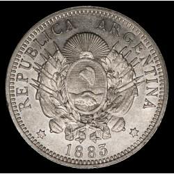 Argentina 50 Centavos 1883 CJ17.4.1 Ag EXC+