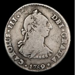 Potosi 1 Real 1789 PR Carlos III CJ66.18 Ag B+