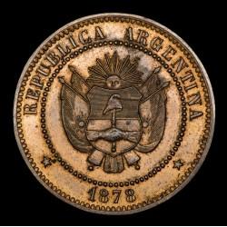 Argentina Ensayo 1 Centavo 1878 CJ26.1 Cobre UNC