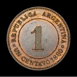 Argentina Ensayo 1 Centavo 1880 CJ40 Cobre UNC
