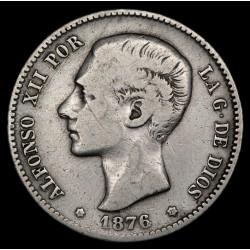 España 1 Peseta 1876 (76) DE-M KM672 Ag MB