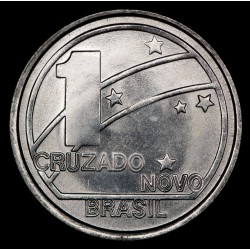 Brasil 1 Cruzado Novo 1989 KM615 Acero UNC