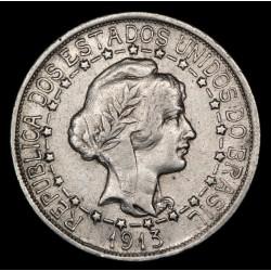 Brasil 1000 Reis 1913 KM510 Ag EXC-