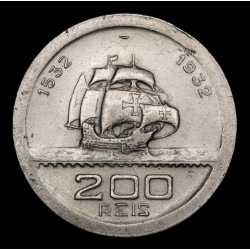 Brasil 200 Reis 1932 Colonizacion KM528 Cuproniquel EXC