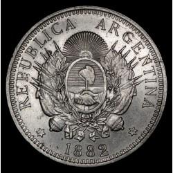 Argentina 50 Centavos 1882 CJ16.4 Ag EXC+