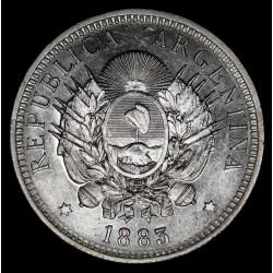 Argentina 50 Centavos 1883 CJ17.2 Ag UNC