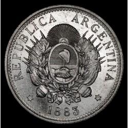 Argentina 50 Centavos 1883 CJ17.3 Ag UNC