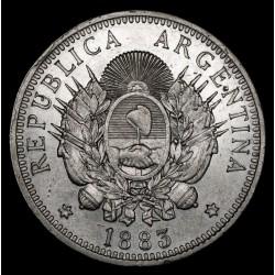 Argentina 50 Centavos 1883 CJ17.4.2 Ag EXC